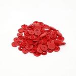 Botão de Pressão n°12 - Vermelho (com 50 jogos de botões)