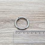 Argola articulada e com trava 4cm - Niquelada