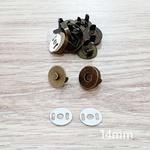 Botão de ímã SIMPLES 14mm - Ouro Velho (pacte com 5 jogos)