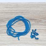 Corrente Bolinha - Azul turquesa (pacote com 1 metro)