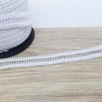 Renda Ponto Palito 22mm - Branca (pacte com 3 mts)