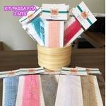 Kit Passa Fita Crochê 34 (23 cores) - (pacte de 3 mts cada)