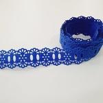 Passa-Fita Crochê 34 - Azul Bic