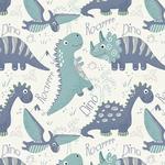 Tecido Tricoline Dinos - Ocean