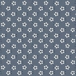 Tecido Tricoline Mini Primavera - Azul Marinho