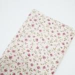 Tecido Linho Misto Estampado - Floral Rosê miúdo