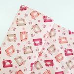 Tecido Tricoline Máquina de Costura - Pink