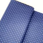 Tecido Tricoline Estrelinhas - Azul marinho