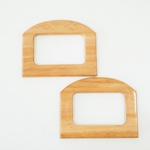 Alça de Bolsa Quadrada Tauari - (madeira clara)