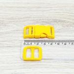 Fecho de engate rápido plástico 15mm - AMARELO (10 unidades mesma cor)