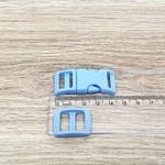 Fecho de engate rápido plástico 15mm - AZUL CLARO (10 unidades mesma cor)