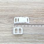 Fecho de engate rápido plástico 15mm - BRANCO (10 unidades mesma cor)