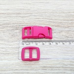 Fecho de engate rápido plástico 15mm - PINK (10 unidades mesma cor)