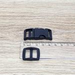 Fecho de engate rápido plástico 15mm - PRETO (10 unidades mesma cor)