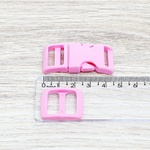 Fecho de engate rápido plástico 15mm - ROSA (10 unidades mesma cor)