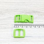 Fecho de engate rápido plástico 15mm - VERDE (10 unidades mesma cor)
