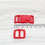 Fecho de engate rápido plástico 15mm - VERMELHO (10 unidades mesma cor)
