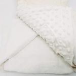 Manta cobertor de plush Sweet Baby de bolinha - Marfim