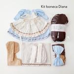 Kit Boneca Diana - Millyta Vergara