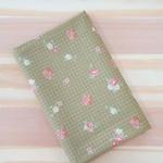 Tecido Tricoline Flor PQ verde - (0,50cm x 1,50mt)