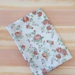 Tecido Tricoline Floral Médio Bege - (0,50cm x 1,50mt)