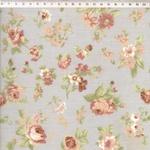 Tecido Tricoline fundo verde Floral Médio Verde - (0,50cm x 1,50mt)