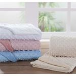 Manta cobertor de plush Sweet Baby de bolinha - Rosa