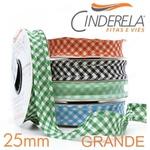 Viés Xadrez GRANDE Cinderela - Lilás (rolo com 20 metros)