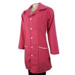 Jaleco Charme Rosa Pink com detalhes brancos