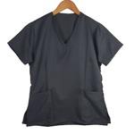 Camisa Scrub Pijama Cirúrgico Cinza Chumbo Gabardine