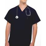 Camisa Scrub - Pijama Cirúrgico Preto Brim Algodão