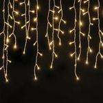 Cascata LED 400 Lâmpadas Fixo Branco Quente Fio Branco 127V
