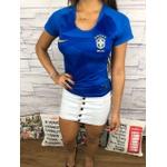 Camiseta Seleção Brasil - Tailandesa Feminina Azul