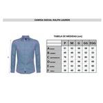 Camisa Manga Longa RL Xadrez fechado Azul marinho- cavalo rosê