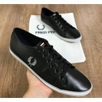 Sapatênis Fred Perry- Lateral Risco Cinza