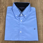 Camisa Manga Curta Tommy Azul Medio