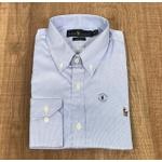 Camisa Manga Longa RL DFC Costura Cruzada azul Branco