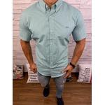 Camisa Social Manga Curta LCT Xadrez curto verde Claro