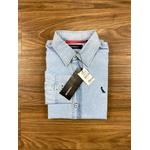 Camisa Social Jeans Manga Longa Rv
