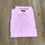 Camisa Manga Longa Aramis Plus Size - Rosa