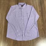 Camisa Manga longa Aramis Plus Size- Lilás Riscado