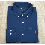 Camisa Manga Longa Ralph Lauren azul marinho