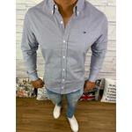 Camisa Manga Longa Tommy - Detalhada Preta