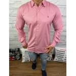 Camisa Manga Longa RL Rosa escuro