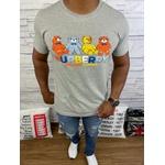 Camiseta Burberry Cinza Riscado