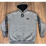 Blusa de Frio Armani Cinza Escuro Riscado Logo Dfc
