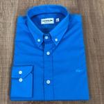 Camisa Social Manga Longa LCT Azul Vivo