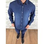 Camisa Social Jeans Manga Longa Rv ⭐