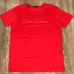 Camiseta Dolce G Vermelho aberto