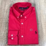 Camisa Manga Longa RL Vermelho Logo preto